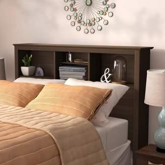 Three Posts Edmont Bookcase Headboard Size: King, Color: Espresso