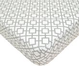 T.L.Care TL Care® Cotton Percale Crib Sheet in Grey Lattice