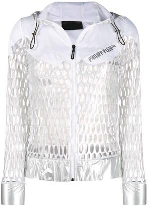 Philipp Plein Metallic Mesh Sport Jacket