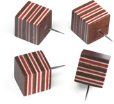 Striped Wooden Pushpins
