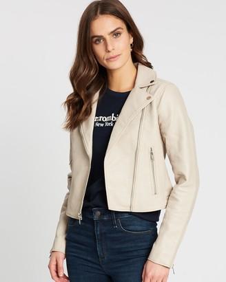 Abercrombie & Fitch Faux Leather Biker Jacket