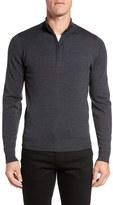 John Smedley Men's 'Tapton' Quarter Zip Merino Wool Sweater