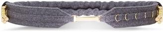 Fendi Elastic Flannel Belt