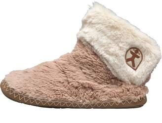 Bedroom Athletics Womens Audrey Short Faux Fur Slipper Boots Gingerbread/Cream