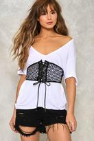 Nasty Gal nastygal Don't Let It Net You Down Fishnet Corset Belt