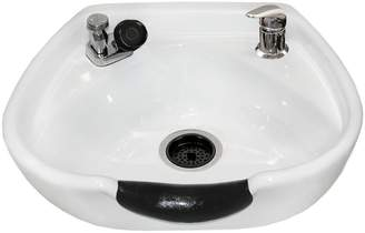 Jeff & Co. Jeffco White 8100 Stationary Porcelain Shampoo Bowl