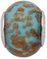 Persona Italian Glass Tropical Blue Fiery Copper Charm fits Pandora, Troll & Chamilia European Charm Bracelets