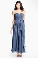 Donna Morgan 'Grace' Sweetheart Ruched Chiffon Gown