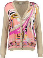 Emilio Pucci Printed silk and wool-blend cardigan