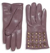 Valentino All Over Studs Leather Gloves