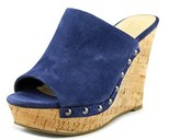 Marc Fisher Henrika Open Toe Suede Wedge Sandal.