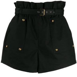 Saint Laurent stud detail high-waisted shorts