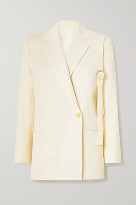 Commission Double-breasted Wool-twill Blazer - Cream