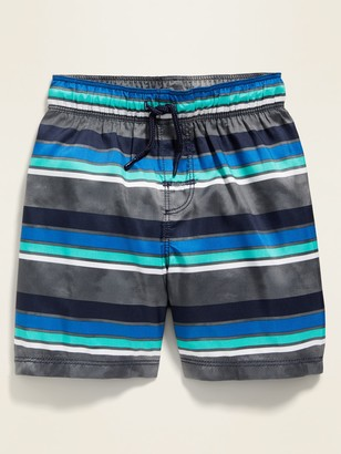 Old Navy Striped Functional-Drawstring Swim Trunks for Toddler Boys
