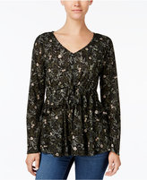 Style&Co. Style & Co Petite Printed Peplum Top, Created for Macy's