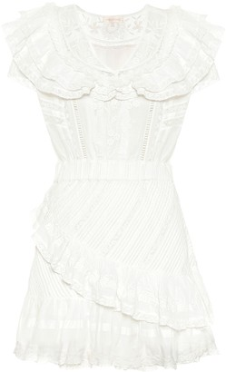 LoveShackFancy Bonita ruffled cotton minidress