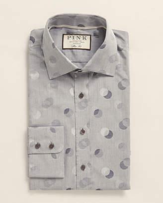 Thomas Pink Slim Fit Polka Dot Dress Shirt