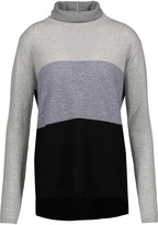 Magaschoni Colorblock cashmere turtleneck sweater