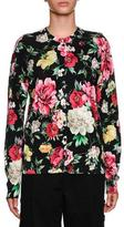 Dolce & Gabbana Floral-Print Button-Front Cardigan
