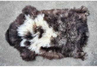 """3.1 Phillip Lim Hedlund Animal Print Handmade 2'1"""" x 3'1"""" Sheepskin Brown/Cream Indoor / Outdoor Area Rug Millwood Pines"""