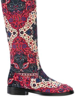 Leandra Medine Printed Knee-Length Boots