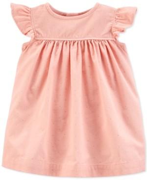 Carter's Baby Girls Cotton Glitter Dot Corduroy Dress