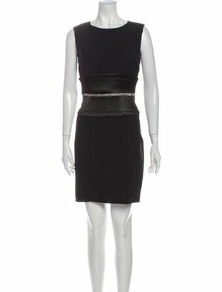 Dolce & Gabbana Bateau Neckline Mini Dress Black