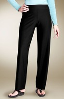 Eileen Fisher Plus Size Women's Straight Leg Crepe Pants