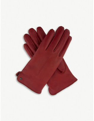 Dents Faux-shearling leather gloves