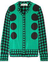 Diane von Furstenberg Printed Silk Crepe De Chine Shirt - Forest green