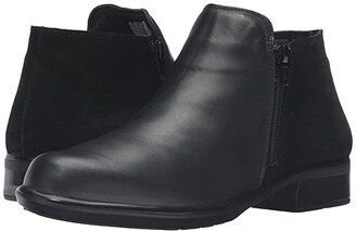 Naot Footwear Helm (Black Raven Leather/Black Suede) Women's Boots