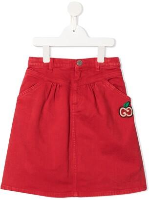 Gucci Kids apple GG denim skirt