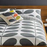 Orla Kiely Giant Stem Flannel Duvet Cover - Granite - Double