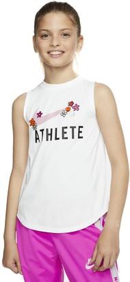 """Nike Girls 7-16 Athlete"""" Graphic Tank"""