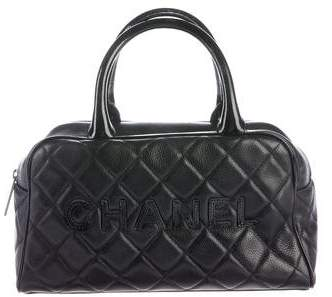 Chanel Quilted Caviar Bowler Bag