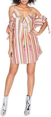 Rachel Roy Cold-Shoulder Swing Dress