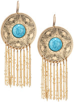 Lydell NYC Golden Faux Turquoise & Chain Drop Earrings