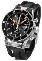 Locman Men's 44mm Rubber Band Steel Case Quartz Watch 051200kobknksik
