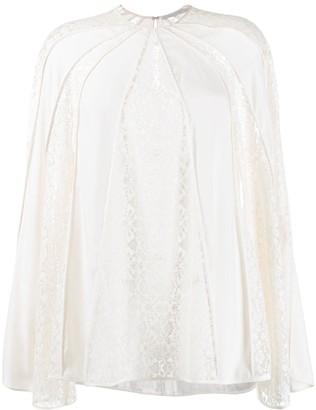 Stella McCartney Lace-Panel Long-Sleeve Blouse