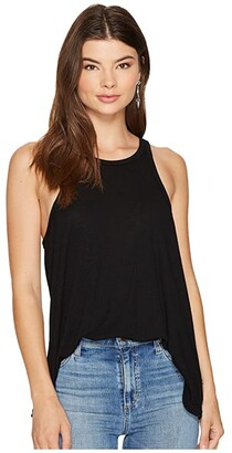 Free People Long Beach Tank Top (Black) Women's Sleeveless
