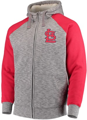 G Iii Men's G-III Sports by Carl Banks Gray St. Louis Cardinals Turning Point Transitional Full-Zip Jacket