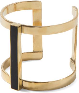 Soko Women's Bracelets Black - Goldtone Horn Bar Double Kizimba Cuff