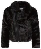 Supertrash Black Faux Fur Bomber