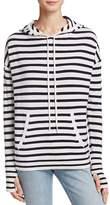 Aqua Cashmere Stripe Hoodie Pullover - 100% Exclusive