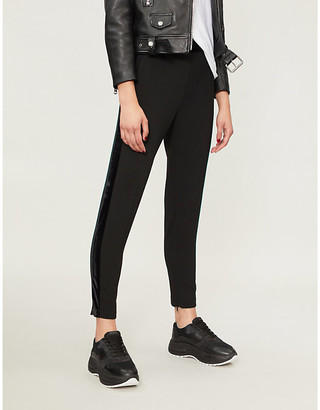 Pinko Cornice slim-fit tapered crepe trousers