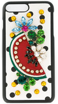 Dolce & Gabbana fruit embellished iPhone 7 case - women - Calf Leather/plastic - One Size