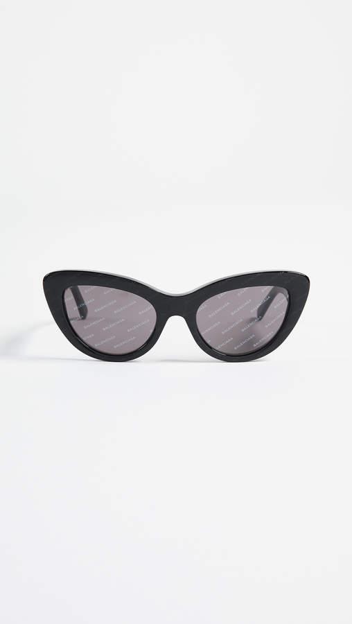 Balenciaga Bold Cat Eye Logo Sunglasses