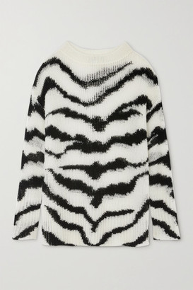 Stella McCartney Intarsia Wool-blend Sweater - White