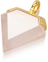 Missoma Rose Quartz Gold Shield Pendant