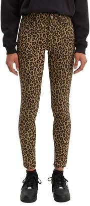 Levi's 720 Hypersoft Leopard-Print Super Skinny Jeans